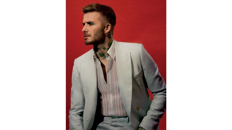 David Beckham photographed for LOVE magazine (Photography: Call This Number – Steve Mackey and Douglas Hart, Creative Direction: Katie Grand, Make Up: Miranda Joyce)