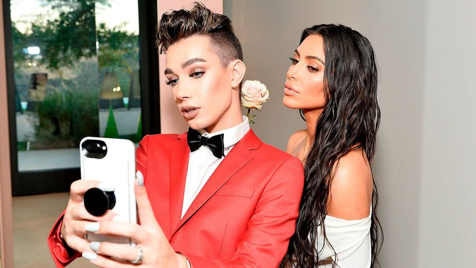 Make-up vlogger James Charles and Kim Kardashian West in Los Angeles, 2017 (Credit: Getty Images)