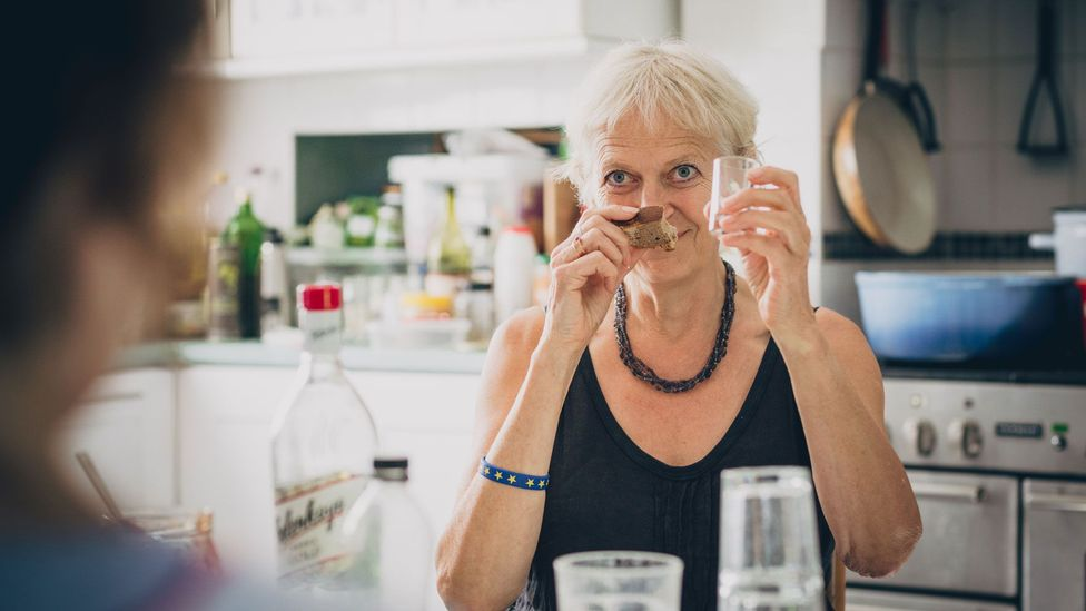 Some believe that sniffing bread helps to soak up the alcohol and offset the taste of the vodka (Credit: Jonny Donovan)