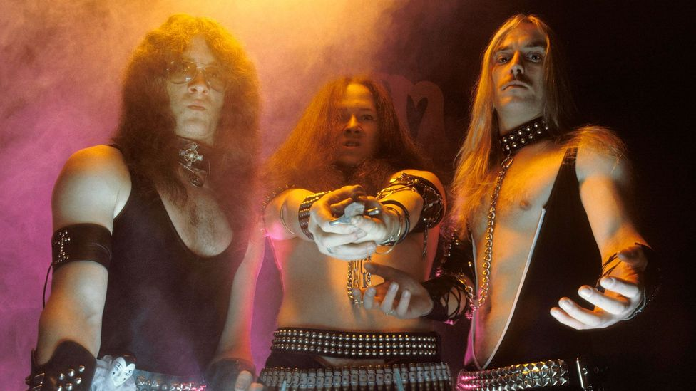 The heavy-metal trio Venom recorded an album called Black Metal in 1982, and a genre was born (Credit: Getty Images)
