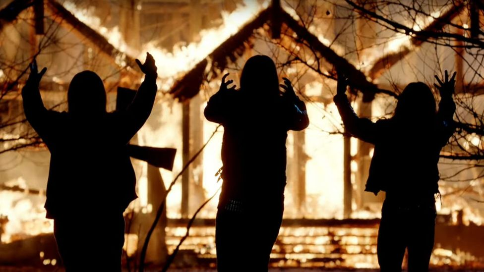 The film dramatises the events of the early 1990s when dozens of wooden churches in Norway were burned down (Credit: Arrow Films)