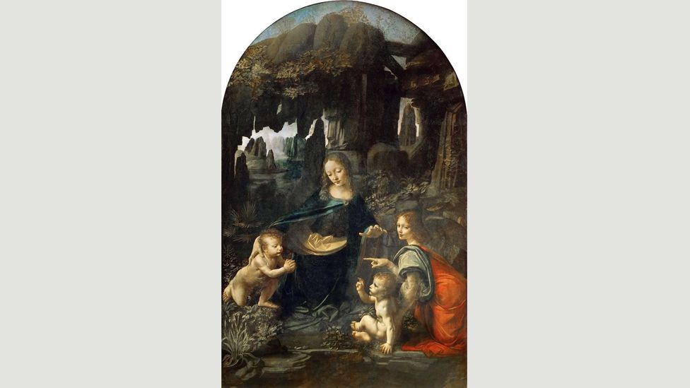 What is believed to be the first version of the Virgin of the Rocks is held at The Louvre (Credit: Louvre)