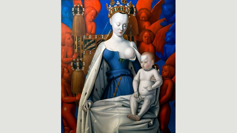 Madonna surrounded by Seraphim and Cherubim, by Jean Fouquet, 1452 (Credit: Royal Museum of Fine Arts Antwerp, Belgium)