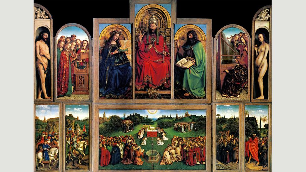Jan van Eyck's Ghent altarpiece (Credit: Alamy)