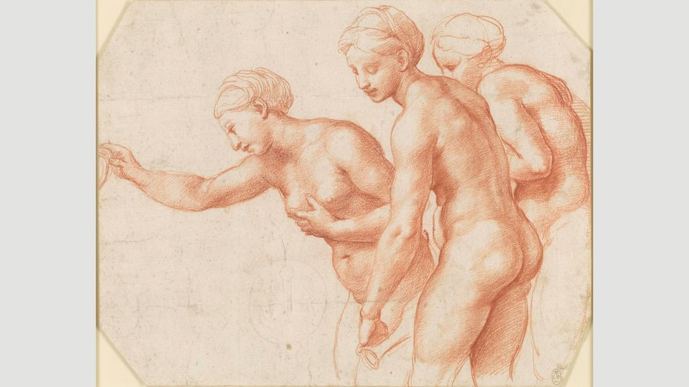 Raphael, The Three Graces, c. 1517-18 (Credit: Royal Collection Trust/ Her Majesty Queen Elizabeth II 2019)