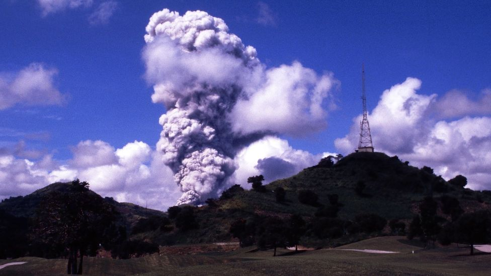 Thanks to the eruption of Mount Pinatubo, the average global temperature in 1991 dropped by 0.6C (Credit: Alamy)