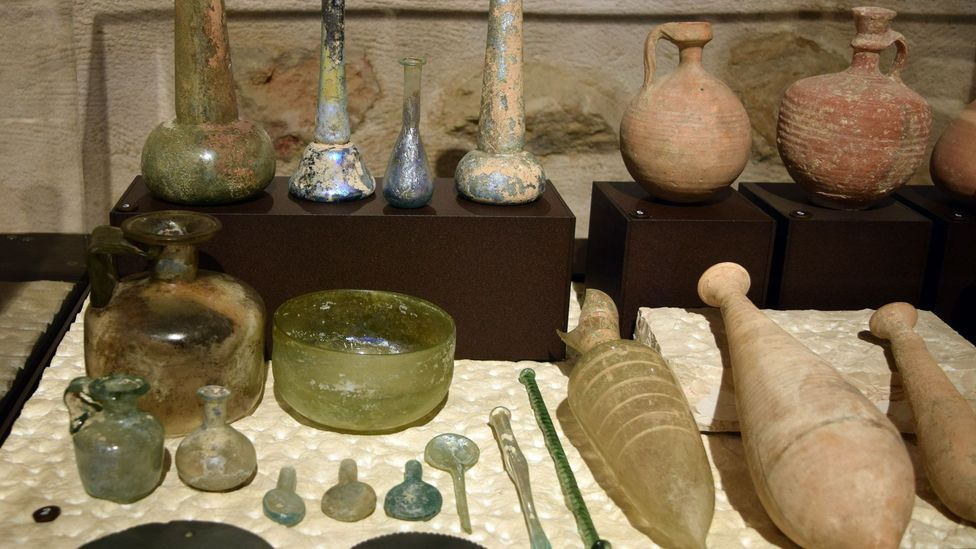 The museum's collection of coins, utensils and other everyday items paints a picture of what life was like in the Holy Land during biblical times (Credit: Sara Toth Stub)