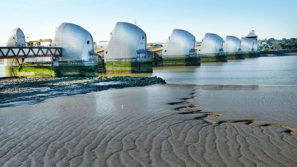 Large defences like London's Thames Barrier protect against flooding of major rivers, but a detailed picture of the risk from smaller streams is also needed (Credit: Getty Images)