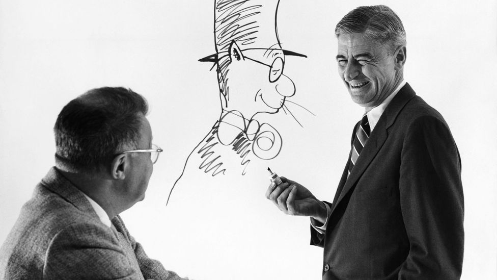 Dr Seuss and his most famous creation (Credit: Alamy)
