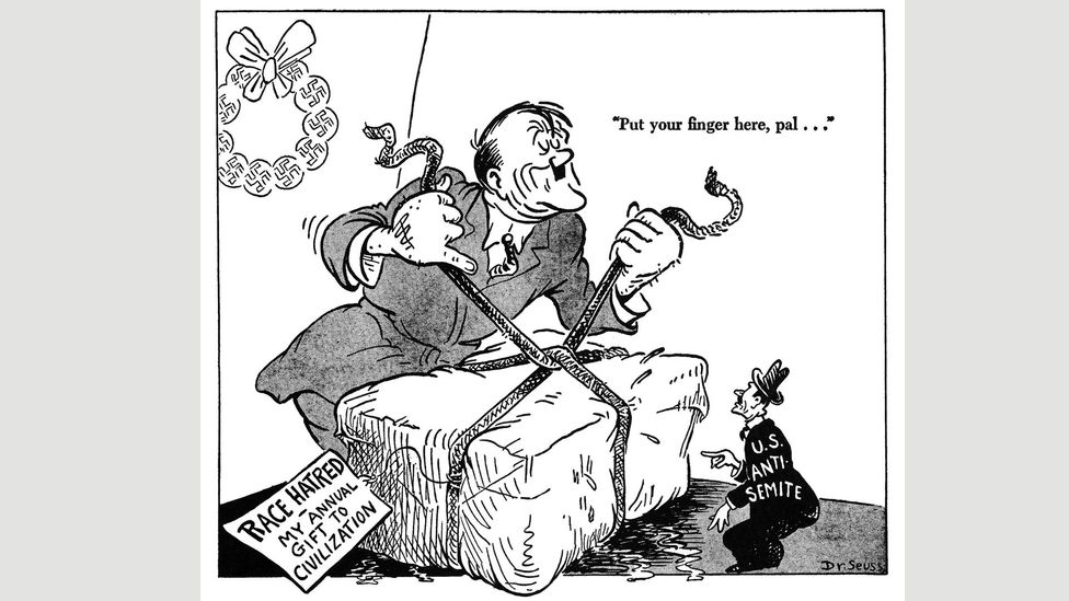 Seuss cartoon for PM, December 1942 (Credit: UC San Diego Library)