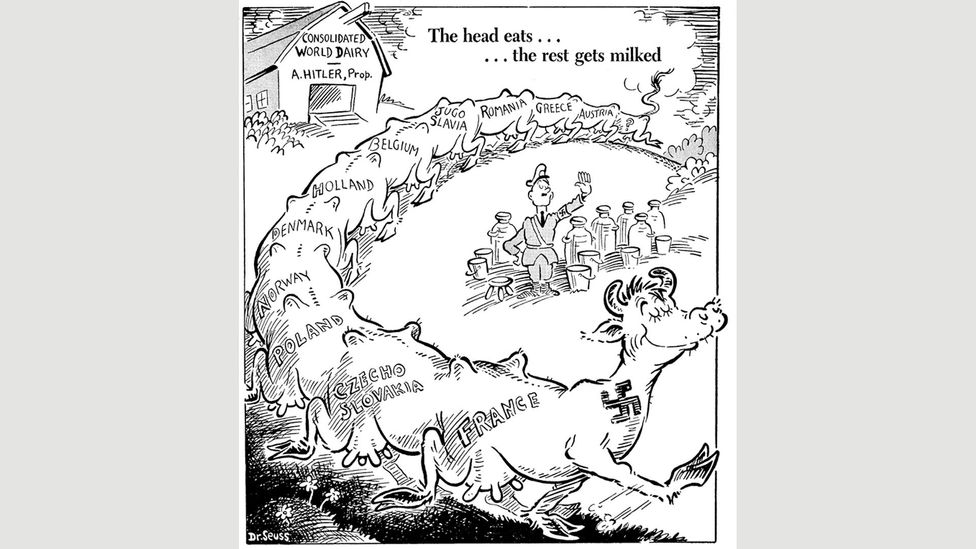 Seuss cartoon for PM, May 1941 (Credit: UC San Diego Library)