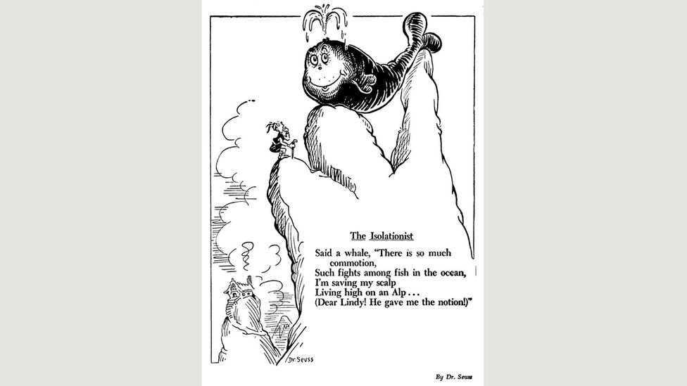 Seuss cartoon for PM, July 1941 (Credit: UC San Diego Library)