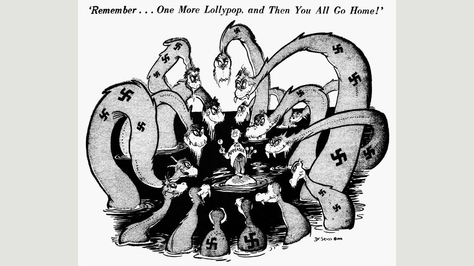 Seuss cartoon for PM, August 1941 (Credit: UC San Diego Library)