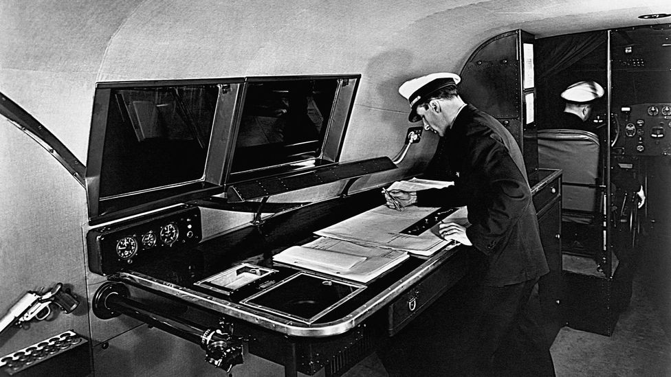 Until the late 20th Century, flight crews often included a flight navigator whose job it was to keep the plane on course (Credit: Museum of Flight Foundation/Getty Images)