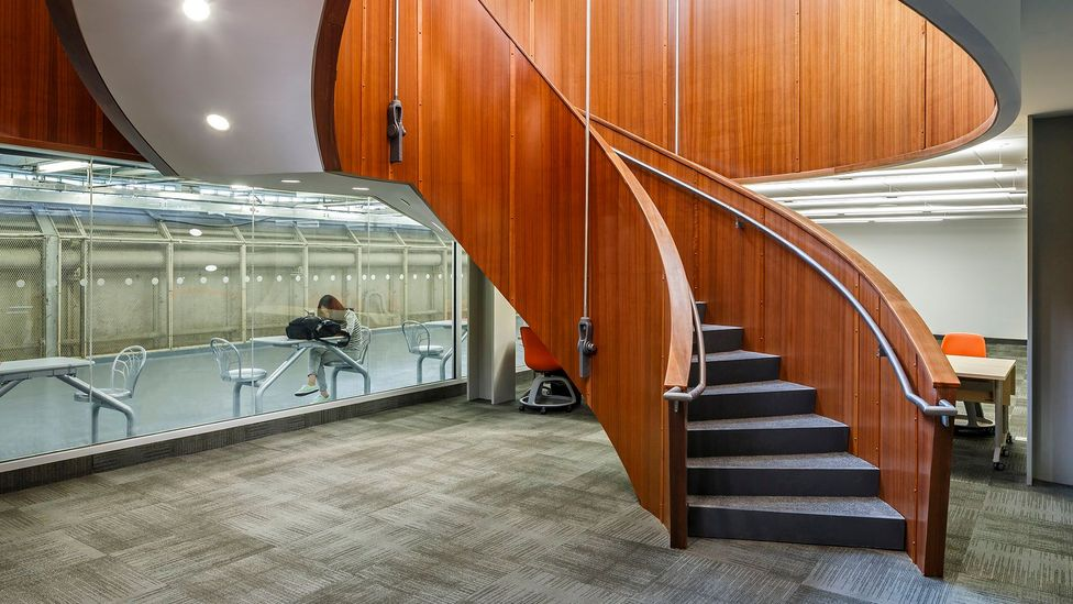 The MacOdrum Library at Carleton University, Ottawa. Students often use underground tunnels to get around the campus, even in warmer weather (Credit: Getty Images)