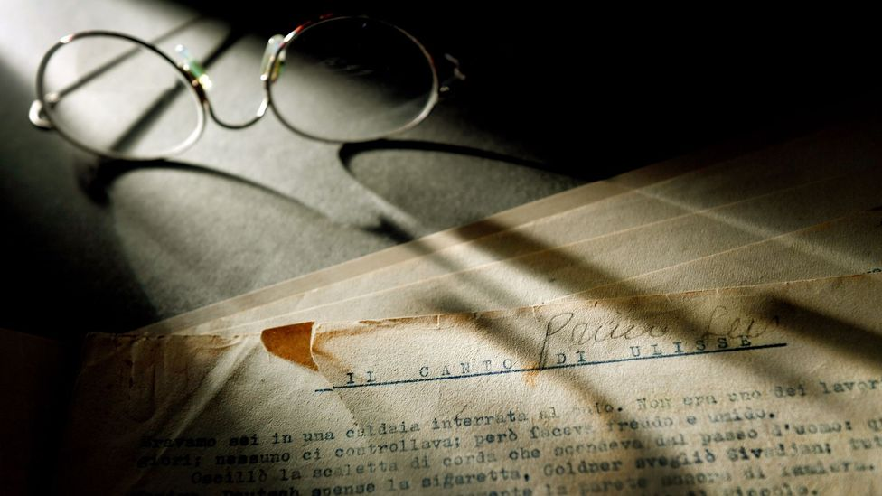 A manuscript of Primo Levi's memoir of Auschwitz was donated to the US Holocaust Memorial Museum (Credit: Getty Images)