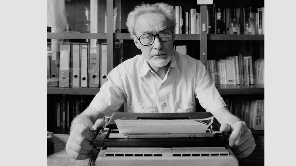 The Italian writer photographed at home in Rome, 1986 (Credit: Getty Images)