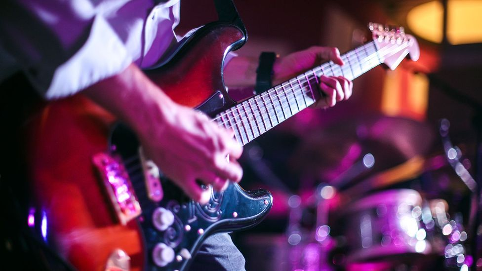 Electric guitar being played (Credit: Getty Images)