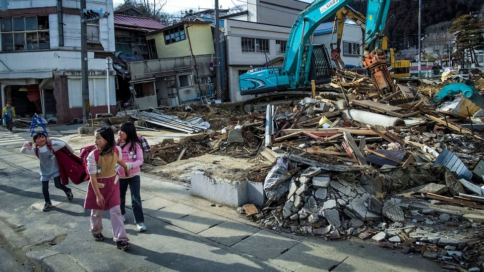'Gaman' can refer to the resilience in the face of crises, like the 2011 Tohoku earthquake and tsunami - but it can also refer to smaller, everyday concerns (Credit: Getty Images)