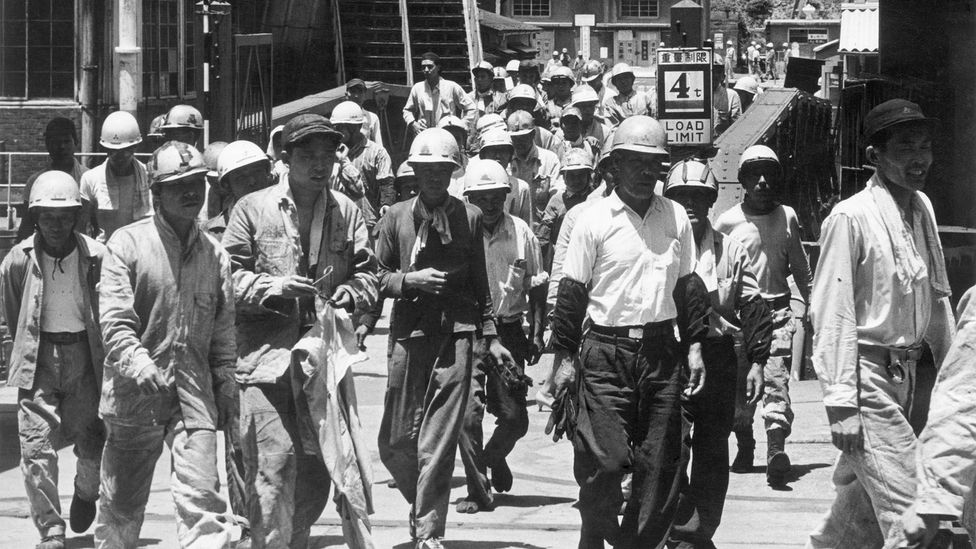 In the post-World War Two economic boom, gaman also came to refer to enduring long working hours amidst nation-building for an emerging middle class (Credit: Getty Images)