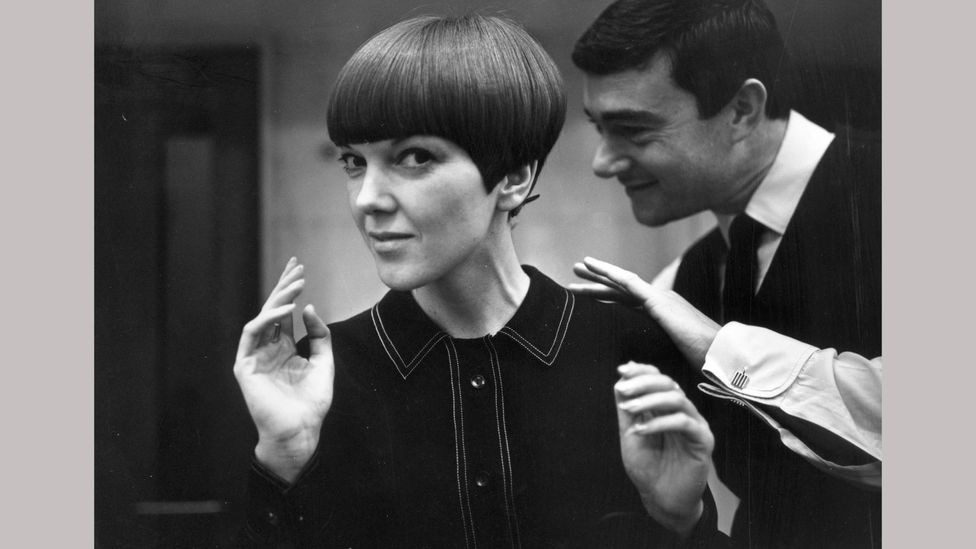 The designer Mary Quant with hair stylist Vidal Sassoon, 1964 (Credit: Getty Images)