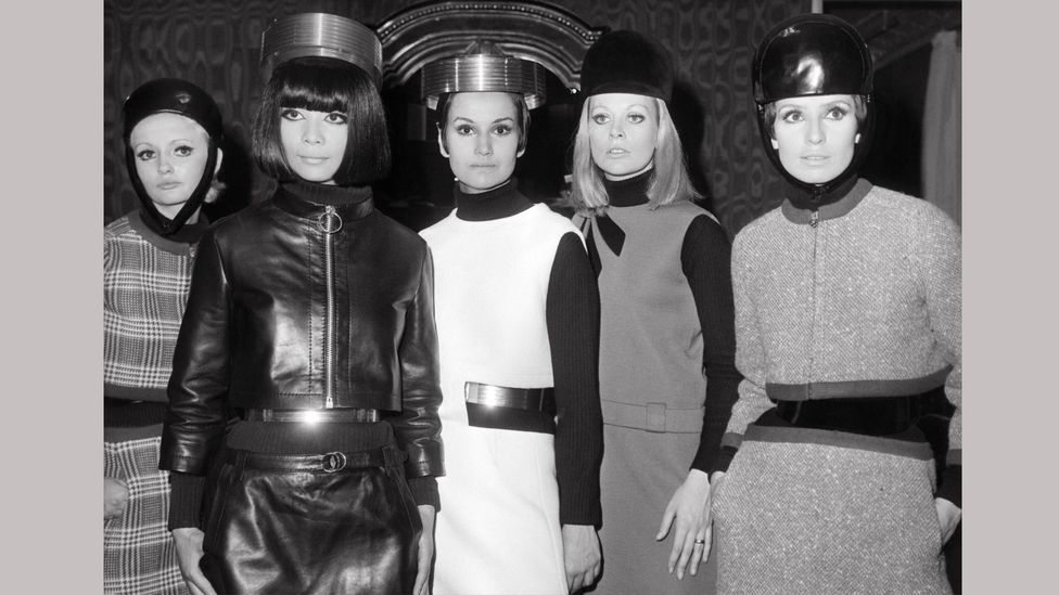Pierre Cardin specialised in pared-back design and futuristic headgear (Credit: Getty Images)