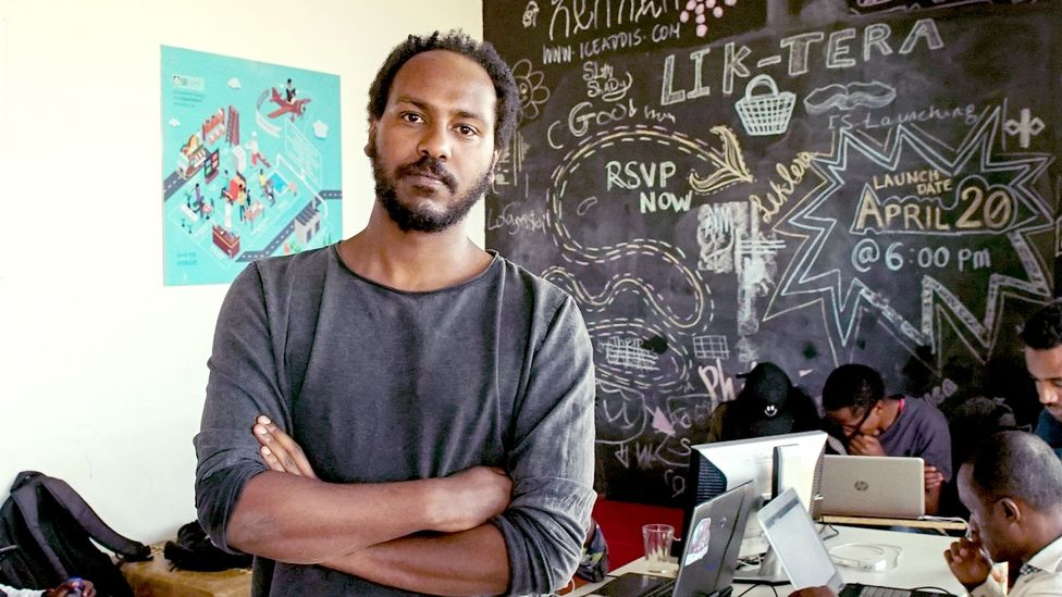 Markos Lemma cofounded the first start-up of its kind in 2011, iceaddis; it's now one of nearly 100 in Addis Ababa.(Credit: Thomas Lewton)