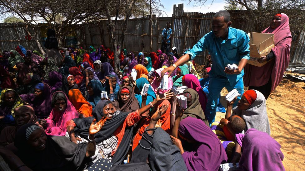 Modern-day famines in several African countries including Somalia have gone almost unnoticed in more developed countries (Credit: Getty Images)