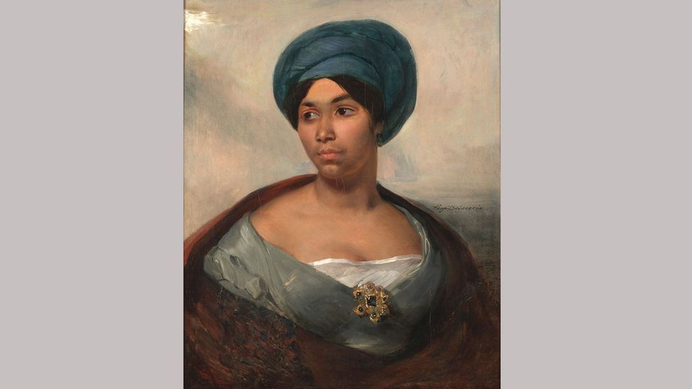 Portrait of a Woman in a Blue Turban by Eugène Delacroix (Credit: Dallas Museum of Art/ Eugene and Margaret McDermott Art Fund Inc)