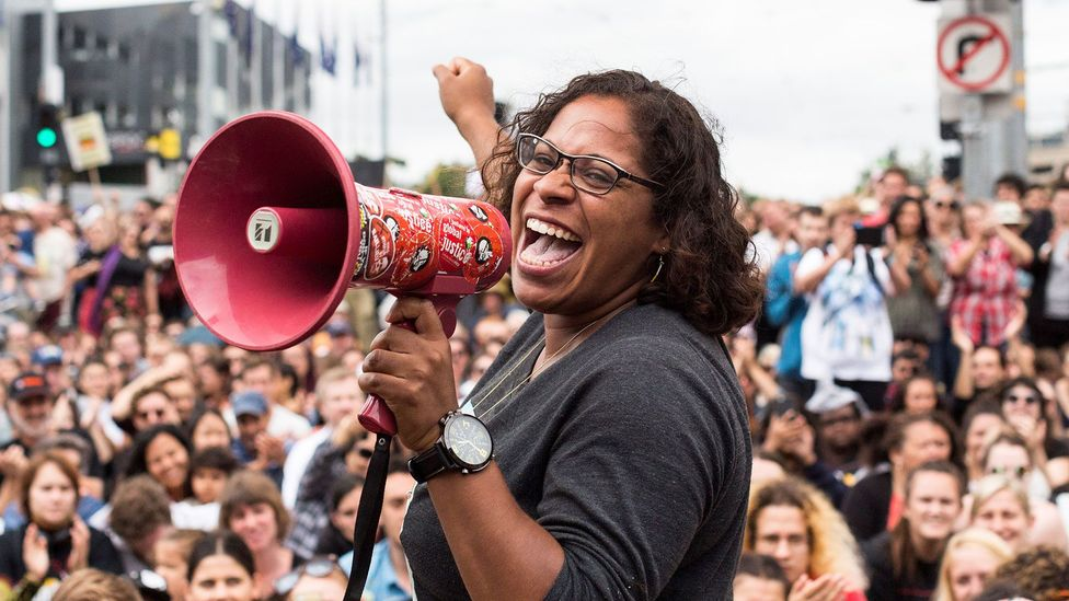 A protest for Aboriginal rights in Melbourne, Australia. The recognition and appreciation of indigenous languages is one of many issues affecting these communities (Credit: Getty)
