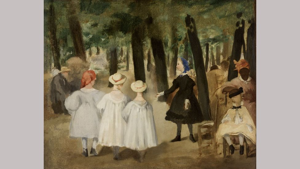 Manet's Children in the Tuileries Gardens (1861-2) depicts Laure as a nanny (Courtesy Rhode Island School of Design)