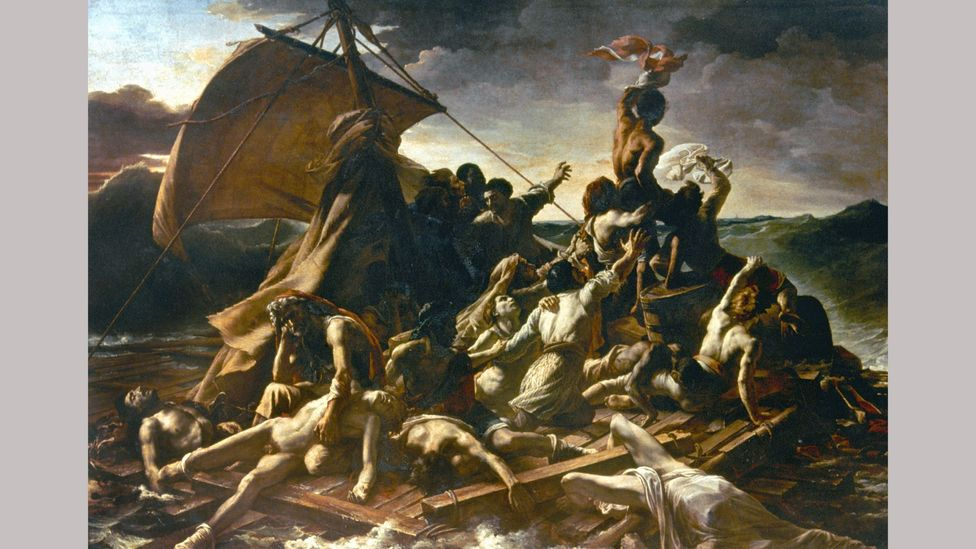 The Raft of the Medusa by Géricault features the model Joseph in the top right hand corner (Credit: Alamy)