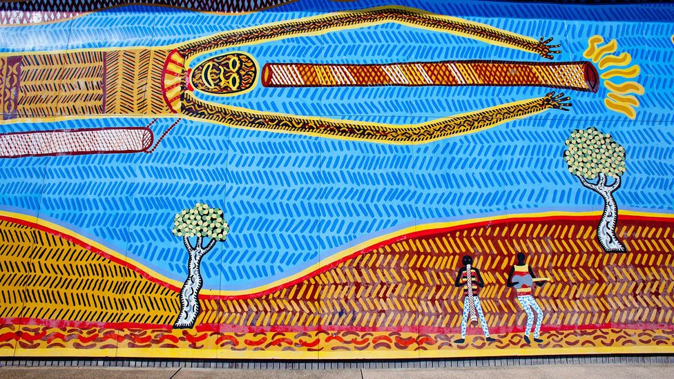 The resuscitation of Aboriginal languages could coincide with a greater appreciation of these communities' art and culture (Credit: Alamy)