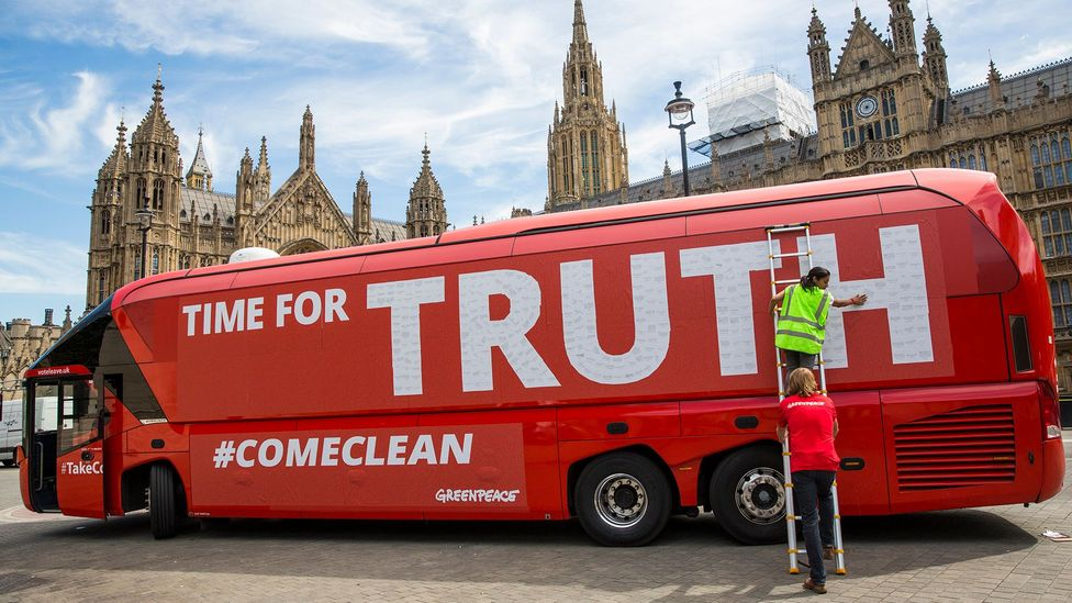 The Leave campaign was accused of being economical with the truth in the lead up to the 2016 Brexit referendum (Credit: Getty Images)