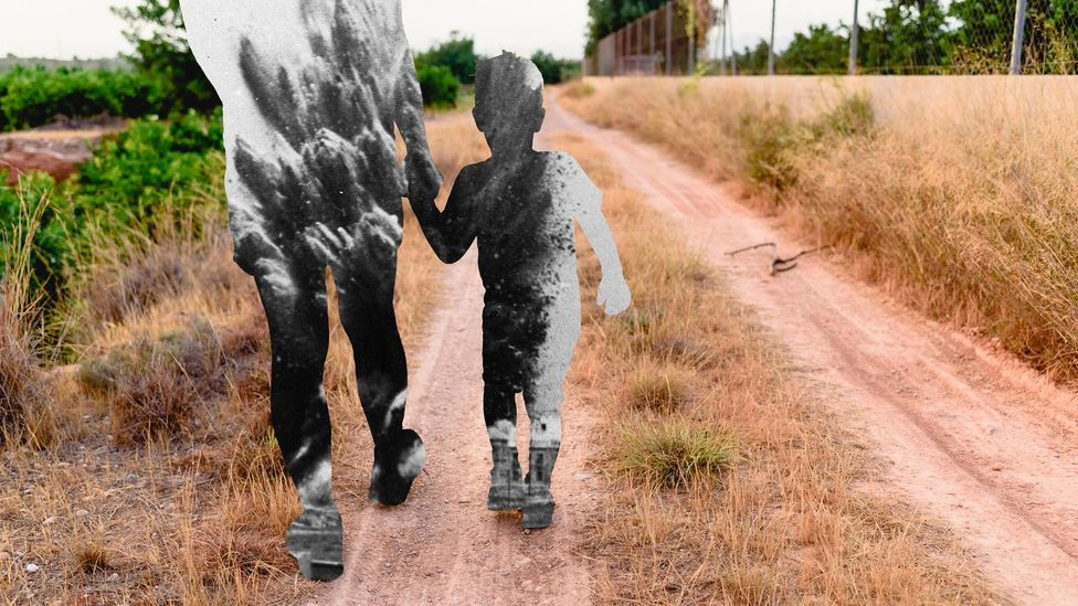 Exactly how trauma is passed down through the generations is still unclear as the mechanisms that act on the DNA are not fully understood (Credit: Alamy/Getty Images/BBC)