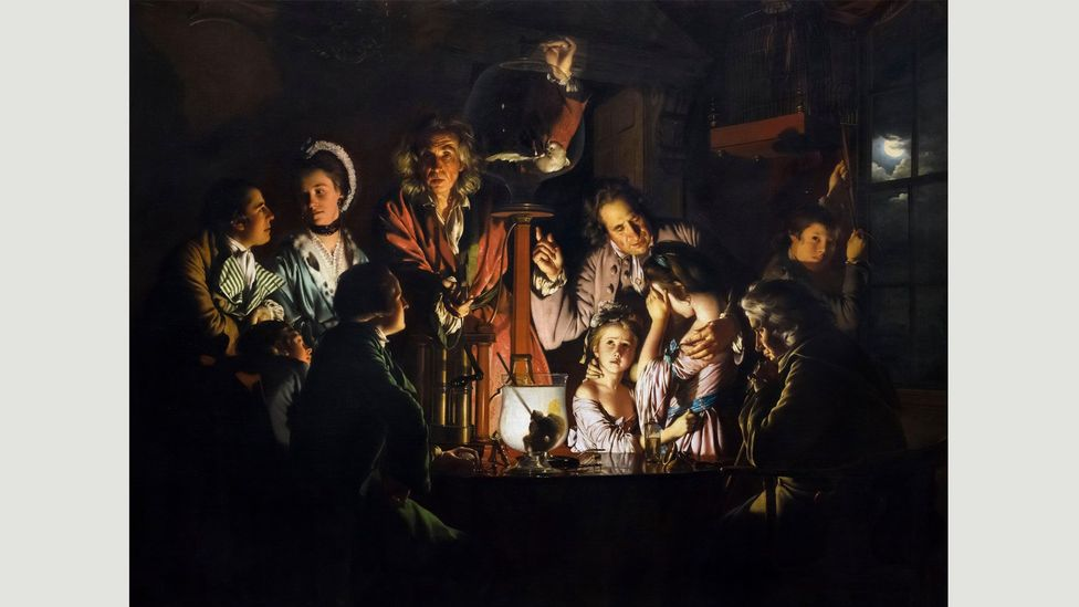 Joseph Wright of Derby – who painted Experiment on a Bird in the Air Pump (1768) – was a member of the Lunar Society (Credit: Alamy)