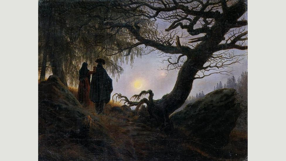 Caspar David Friedrich's Man and Woman Contemplating the Moon (1818) offers a meditative approach (Credit: Alamy)