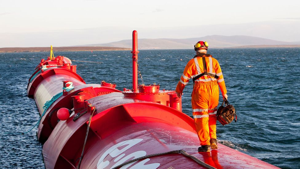 Orkney gets its clean energy from sources like tidal and wave energy (Credit: Alamy)