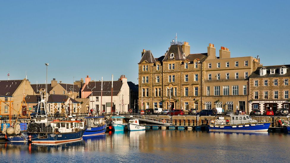 At Kirkwall harbour, hydrogen has been used to power the lights of some vessels and heat a nearby hall (Credit: Alamy)