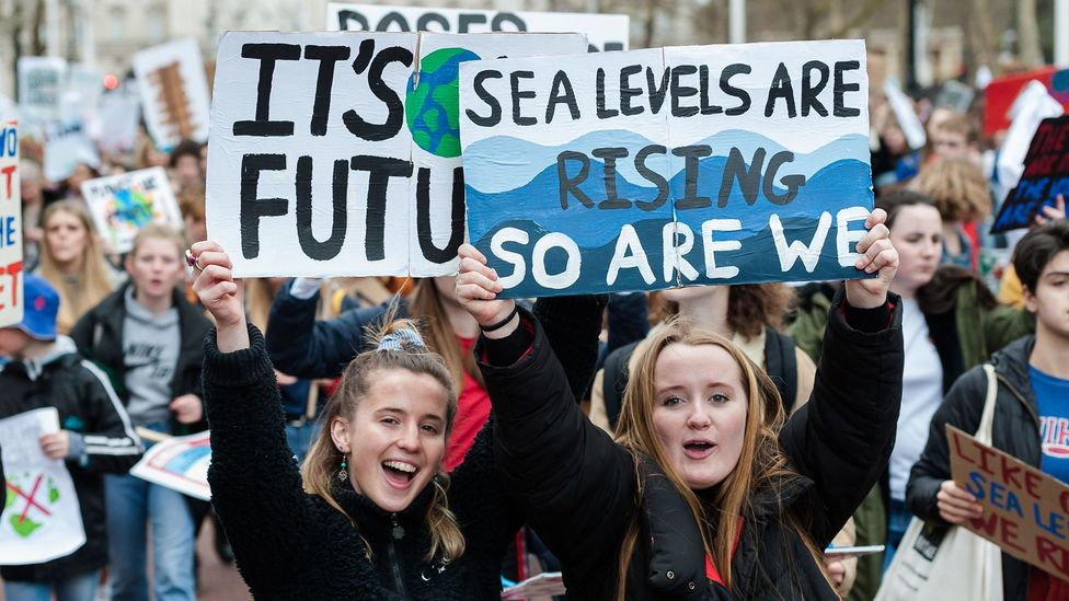 The recent climate strikes show how younger people are being galvanised over climate change (Credit: Getty Images)