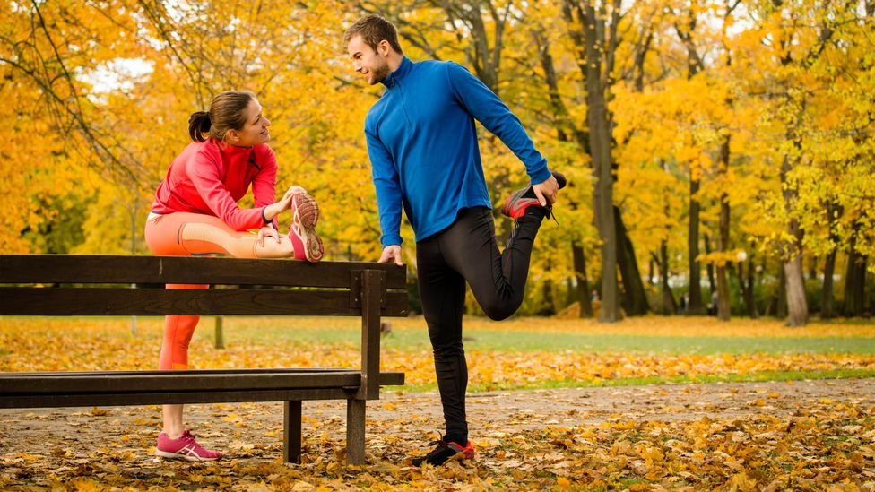 Many runners stretch before or after their run but while it may increase their flexibility it does little to improve performance (Credit: Alamy)