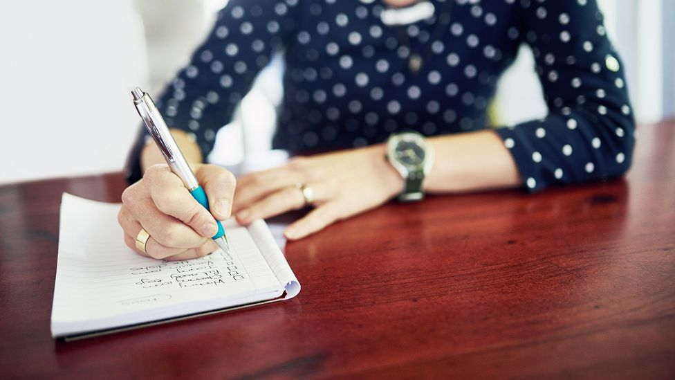 Even if you make a shopping list and leave it at home, the act of writing it makes you more likely to remember items (Credit: Getty Images)