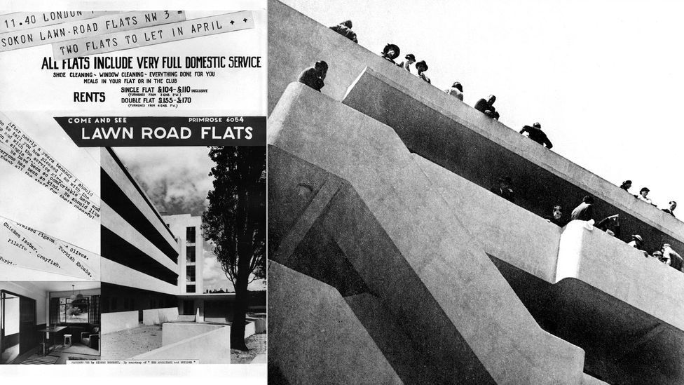 The Isokon building was also known as Lawn Road Flats and was a bold experiment in minimalist urban living (Isokon Plus Archive)