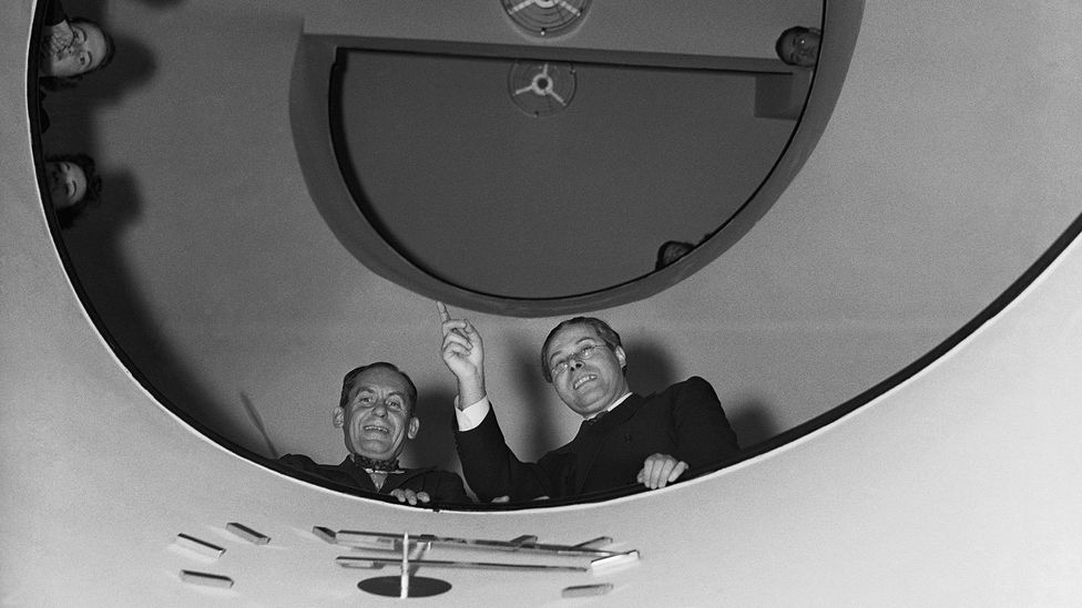 Walter Gropius and Laszlo Moholy-Nagy in Chicago – the US welcomed the influx of modernist designers (Credit: Getty Images)
