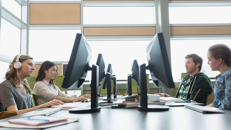 Experts say that essay mills and plagiarism services reach students through social media (Credit: Alamy Stock Photo)