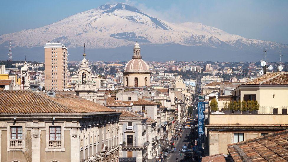 The cone-shaped arancini of Catania are said to resemble Mount Etna (Credit: Antonio Violi/Alamy)