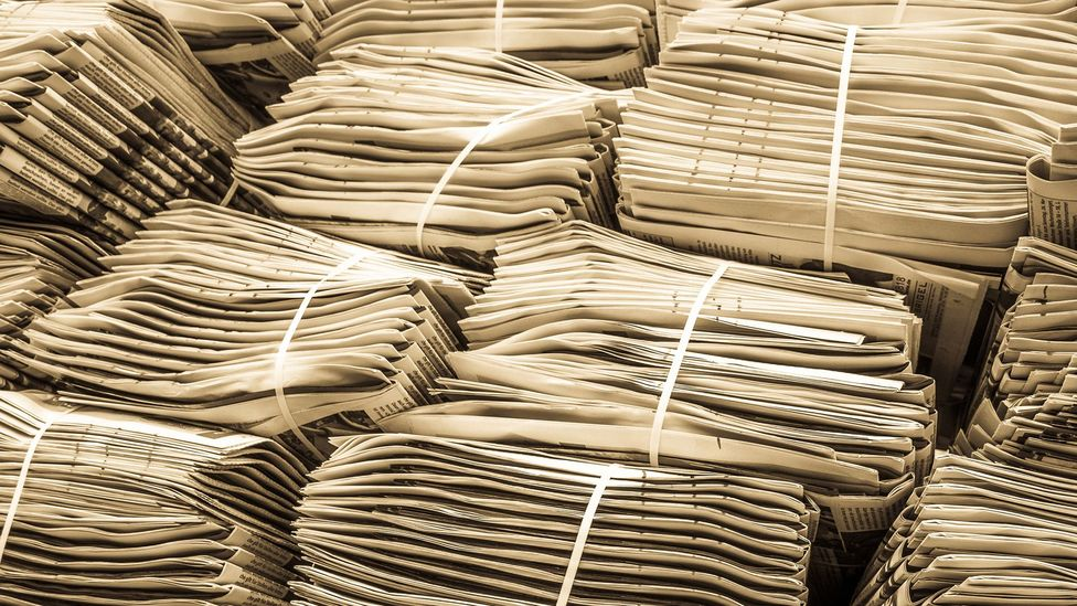 Archives knew the importance of saving newspapers but were slower to react to the rise in online material (Credit: Getty Images)
