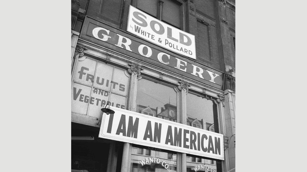 Dorothea Lange, Oakland, California, March 13, 1942 (Credit: National Archives)