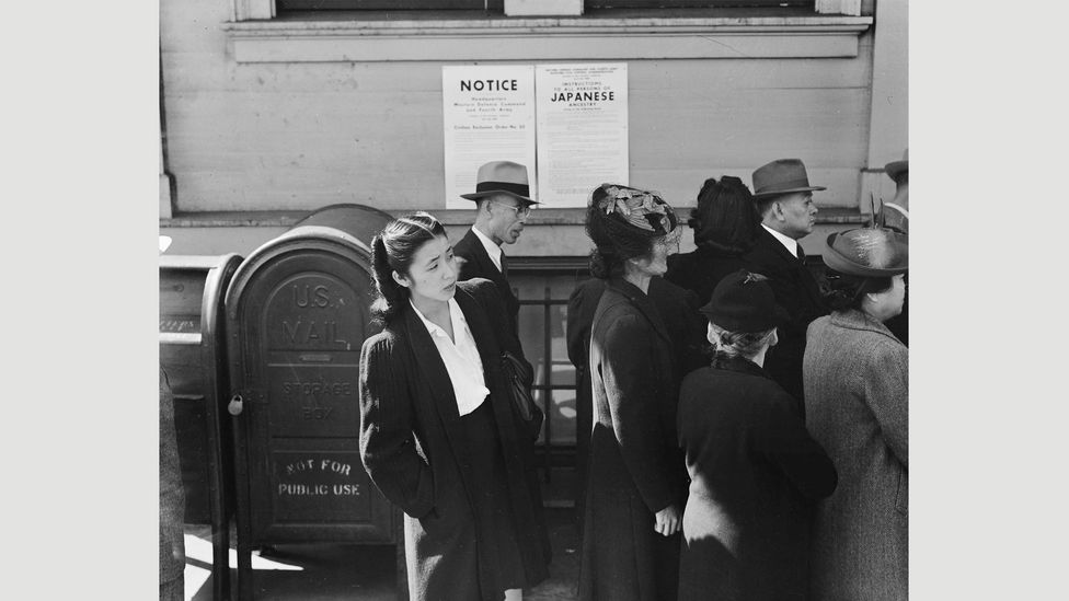 Dorothea Lange, San Francisco, California, April 25, 1942 (Credit: National Archives)