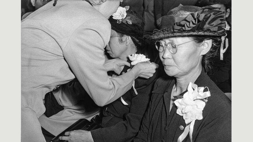 Tōyō Miyatake, Memorial Service, July 1944 (Credit: Toyo Miyatake Studio)